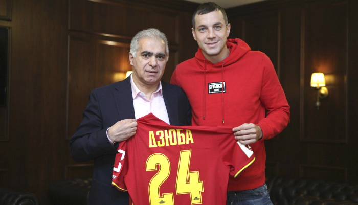 Dzyuba e Novoseltsev ceduti in prestito all'Arsenal Tula