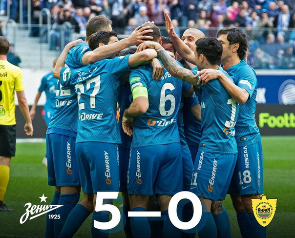 Goleada Zenit: 5-0 all'Anzhi