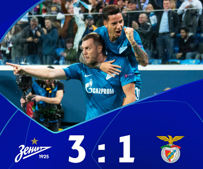 Lo Zenit torna a vincere in Champions League